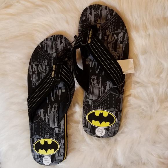1d5f588c2d89 NEW Men s Batman Licensed Thong sandals Size 11 12. NWT. DC Comics